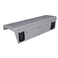 Seat Cushion (Squab) with Storage Pocket 40 x 150cm - Beige Grey