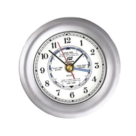 "3"" Chrome on Brass Time & Tide Clock"