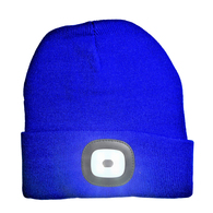 Beanie with Built in LED Light - Blue/OSFA