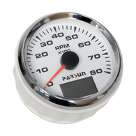 75mm Outboard Tachometer 0-7000 RPM (petrol) White Face 2&4 Stroke