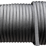 10mm Classic Solid Yacht Racing Braid per metre - Black