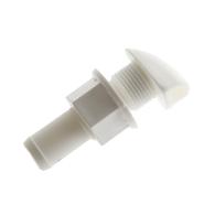 16mm Straight Tank Breather Vent White - Nylon