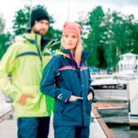 Sydney Ladies Coastal Class Sailing Jacket - Navy/Neon Pink