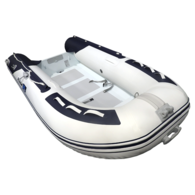 Inflatable 3.40m Alloy RIB Deluxe RIB w/Dbl Flat Floor and Locker