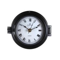 "4.5"" Black on Brass Porthole Clock"