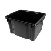 26L Heavy Duty Polyethylene Fish Bin - Black