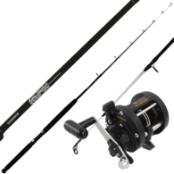 TR100G star drag level wind reel with eclipse 10kg boat rod