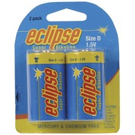 D Batteries - Alkaline - 2 Pack