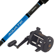 """TR 200G / Aqua Tip - 5'6"""" 6/10kg Kayak Overhead Reel / Rod Combo"""