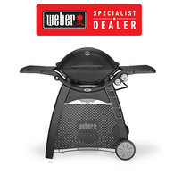 Weber Q3200 Premium (Natural Gas) Family Barbeque Grill BBQ w/Cart - Black