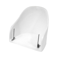 Super Deluxe Flip Up Seat Alloy Frame - Bolster White Ivory