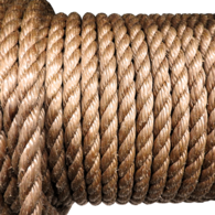 16mm Polypropylene Laid Rope - Manila Colour (Per Metre)