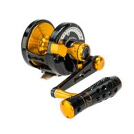 Powerspell PE7 Lever Drag Reel - Black/Gold