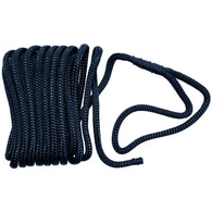 Braided Nylon Dock/Mooring Line - navy - 10m