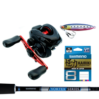 Caius 150B HG / Vortex 6'6 Slow Jig Combo with Braid & ColtSniper Lure