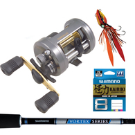 Corvalus 400 / Vortex 6'6 Slow Jig Combo with Braid