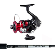 """Sienna 4000FG / Catana 6'3"""" Spin kayak Combo"""