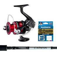 "Sienna 4000FG / Catana 6'3"" Spin kayak Combo with Braid"