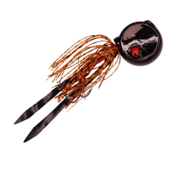 Coin Drop Sliding Lure - Black / Orange