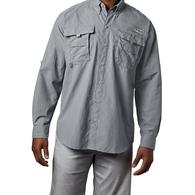 Mens Bahama II Long Sleeve Fishing Shirt - Cool Grey