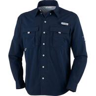 Mens Bahama II Long Sleeve Fishing Shirt - Navy