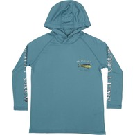 Dodo Pinnacle Kids Long Sleeve Tech Shirt - Ocean Blue