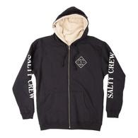Tippet Zip Sherpa Hooded Fleece - Black
