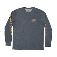 Tiller Long Sleeve Tech Shirt - Heather Navy