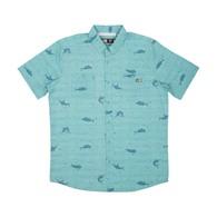 Horizon Short Sleeve Woven Shirt - Dusty Blue