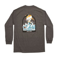 Poppin' Off Long Sleeve Tee Shirt - Charcoal Heather