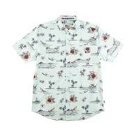 Tropic Sails Short Sleeve Woven Shirt - Mint