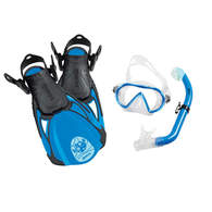 Sea Pals Kids Dive Mask / Snorkel / Fins - Puffer Fish Blue