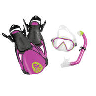 Sea Pals Kids Dive Mask / Snorkel / Fins - Octopus Purple