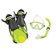 Sea Pals Kids Dive Mask / Snorkel / Fins - Turtle Green