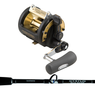 Shimano TLd 50LRSA with Status Bluewater 24-37kg DDM Rod Combo