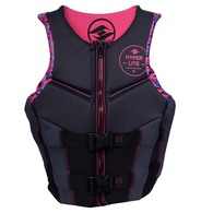 Womens Ski / Watersport Neoprene Vest - Pink / Black - XL