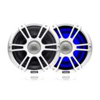 "7.7"" 280 Watt Coaxial Sports White Marine Speaker with LEDs"