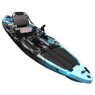 Yellowfin 12 Angler 1 Person Kayak 3.70m - Caribbean Blue