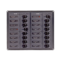 904NM 16-way switch panel with Circuit breakers