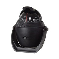 Bracket Mount Marine Compass- 65mm Card - Black