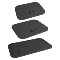 Black ABS 1 Latch Access Hatch - 375x283mm