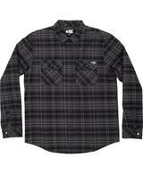 Boatyard Tech Long Sleeve Flannel Shirt - Black
