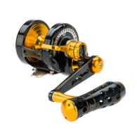 Powerspell PE4 Lever Drag Jigging Reel - Black/Gold