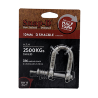 Stainless Steel Towing Dee Shackle Spring Loaded Pin