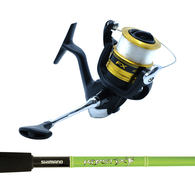 """FX4000FC / Kidstix 5'5"""" 4-6KG Kids Spin Combo Spooled with Mono - Green"""