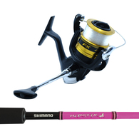 """FX4000FC / Kidstix 5'5"""" 4-6KG Kids Spin Combo Spooled with Mono - Pink"""