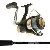 "Hyperloop 6000 / Eclipse 8'0"" 8-12KG 2-Pce Spinning Combo Spooled with Mono"
