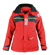 Bergen Ladies Offshore Class Sailing Jacket - Red / Carbon