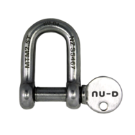 10mm Stainless Steel Towing Dee Shackle w/Captive Pin 2500kg