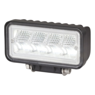 1100 Lumen 12V LED Flood Light - Oblong - Black